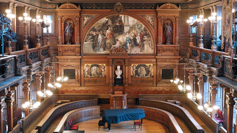 سالن اجتماعات دانشگاه قدیمی هایدلبرگ آلمان