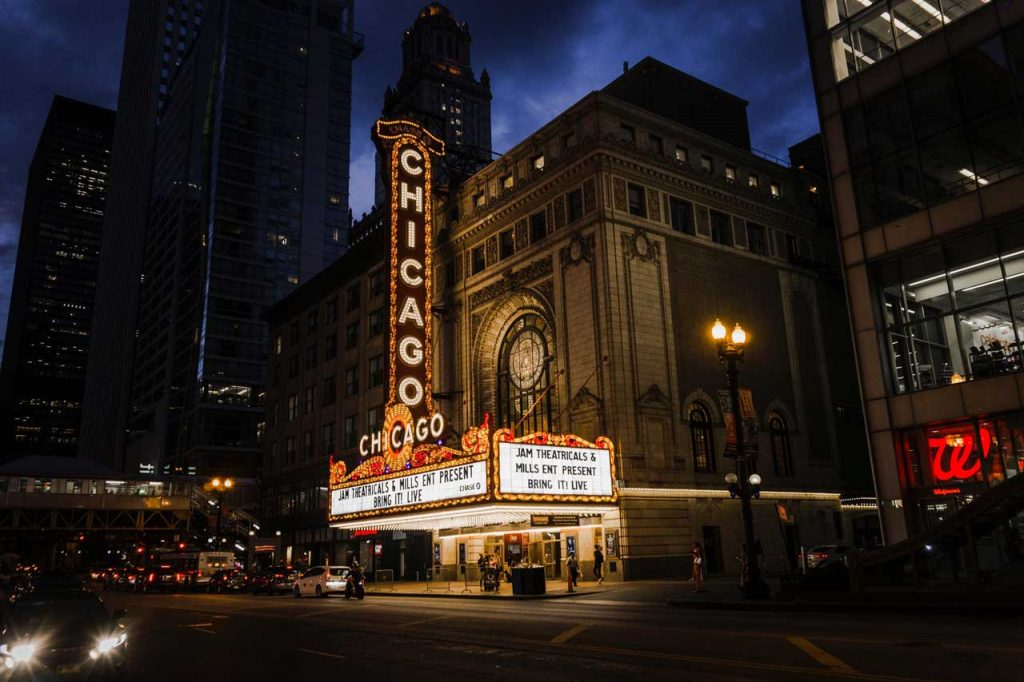 Chicago-Theatre,-Chicago,-America